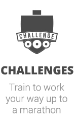 Take the challenge and work your up to a 5k, 10, Half Marathon or Marathon. We provide training tips, support and more.