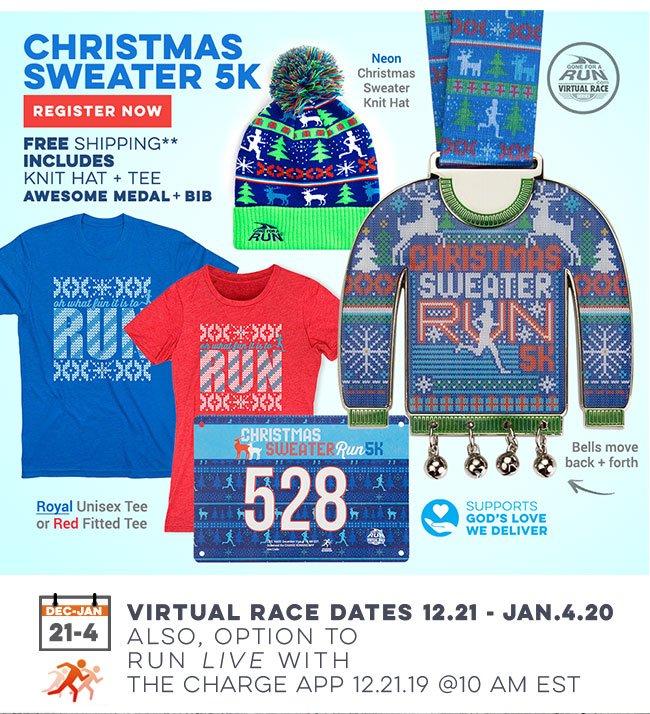 Christmas Sweater 5K Virtual Race