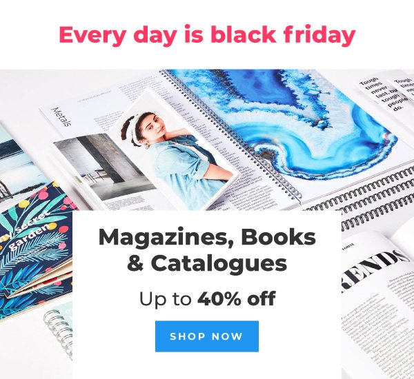 Order magazines, books and catalogues with up to 40% off