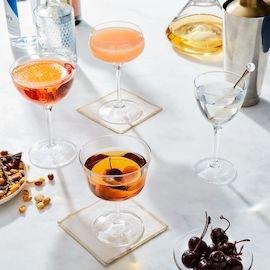 Vintage-Inspired Italian Cocktail Glasses
