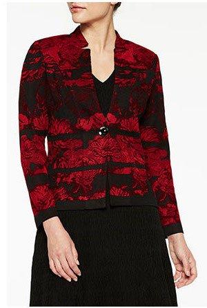 Landscape Pattern Knit Jacket