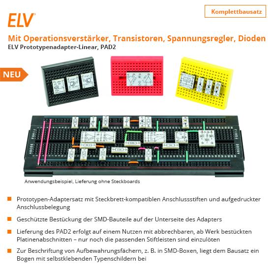 ELV Bausatz Prototypenadapter für Steckboards PAD2 linear