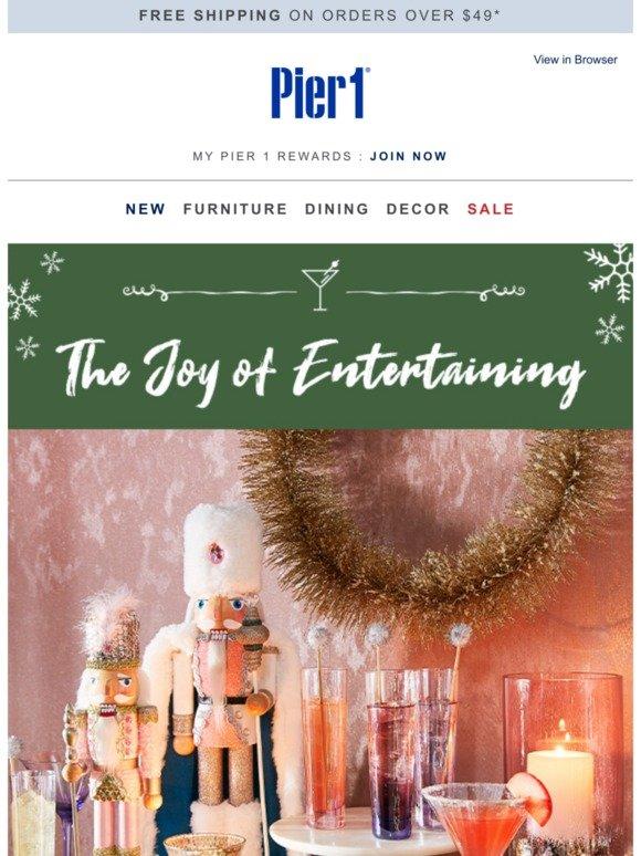 The joy of entertaining meets the joy of saving.