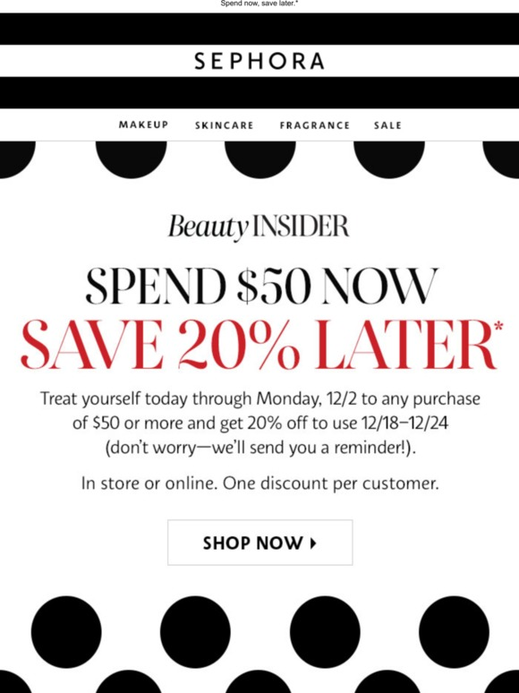 Earn 20% off (your future self will thank you)