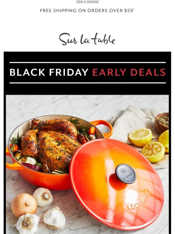 Magnifique! Le Creuset up to 45% Off Today Only