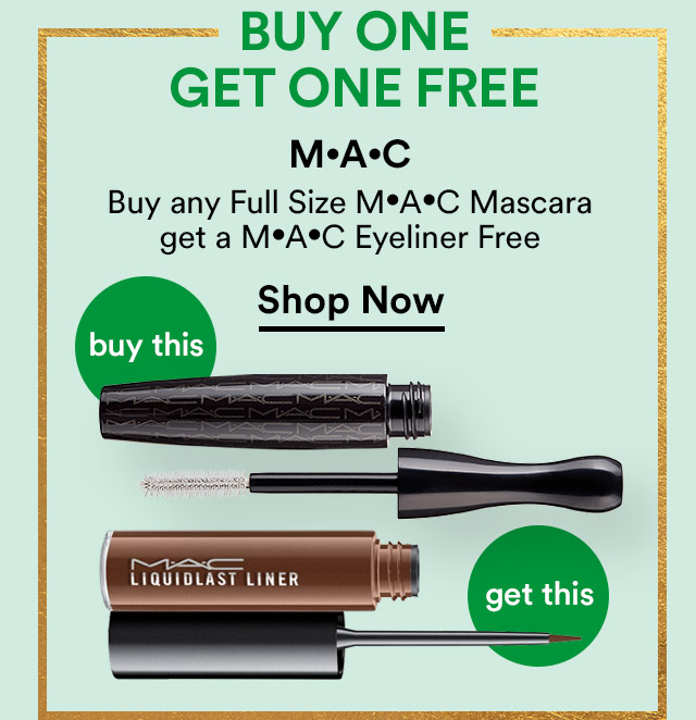 MAC | Buy any Full Size MAC Mascara get a MAC Eyeliner FREE | Shop Now
