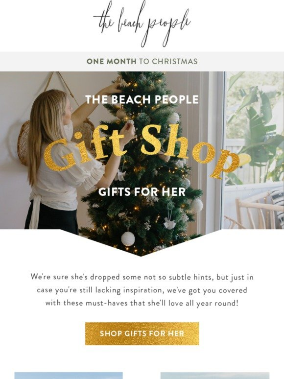 The Beach People Only 1 Month To Go Shop The Gifts She