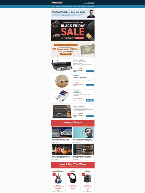 Sweetwater Trending Black Friday Deals More Milled