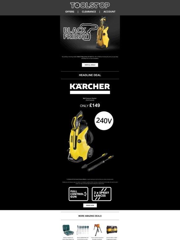Toolstop Karcher K4 Pressure Washer Black Friday Deals Milled