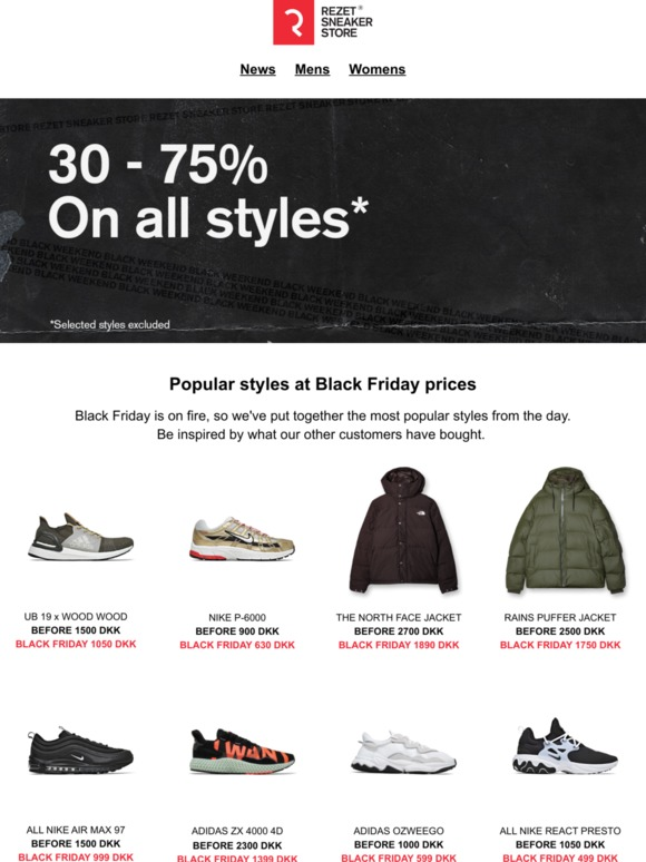 Rezet Store: Buy the most popular styles at Black Friday