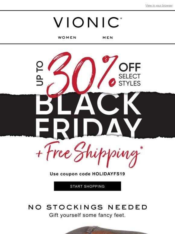 Vionic Group LLC: Skip the Black Friday