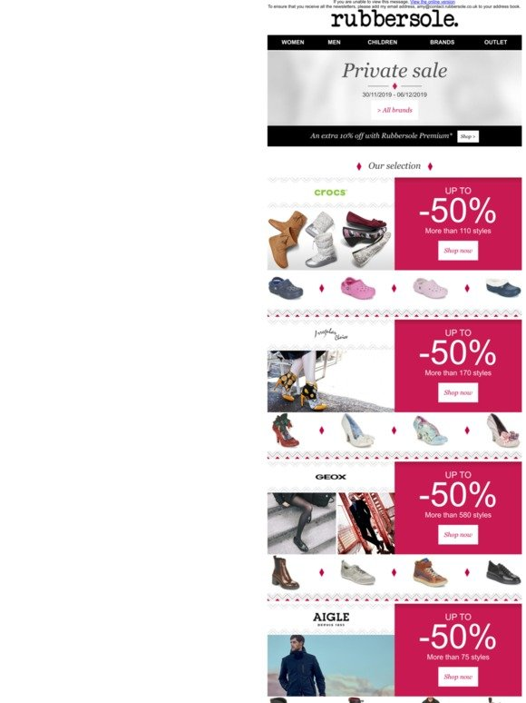 Comunismo favorito Asco  Rubber Sole Email Newsletters: Shop Sales, Discounts, and Coupon Codes -  Page 10