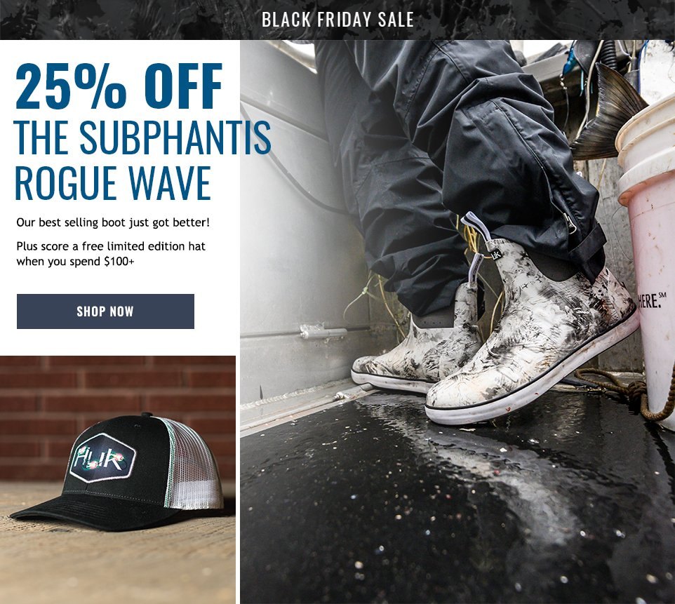 Huk Gear 25 Off The Rogue Wave Black Friday Deals Milled