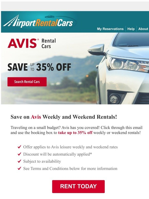 Airportrentalcars Com Congrats We Re Offering Cyber Monday