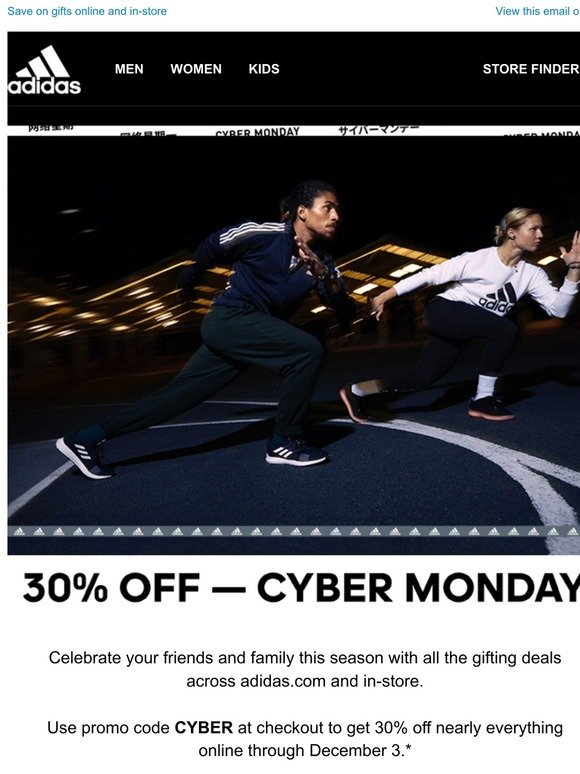 Adidas Cyber Monday Is Here Milled