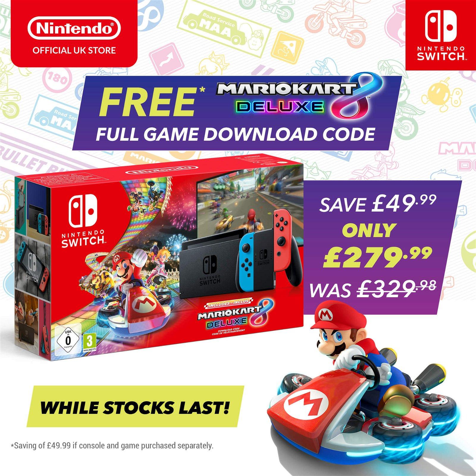 Nintendo Free Mario Kart 8 Deluxe With Nintendo Switch