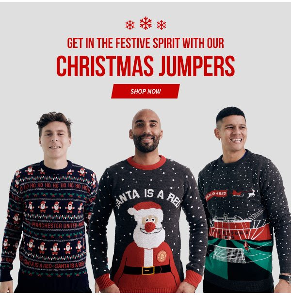 Manchester United Direct: 25% Off Christmas Jumpers…Get In
