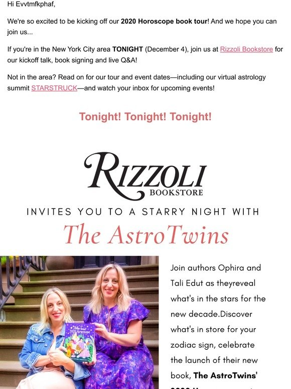 The AstroTwins: 🔥Our 2020 Horoscope Book is Here! | Milled