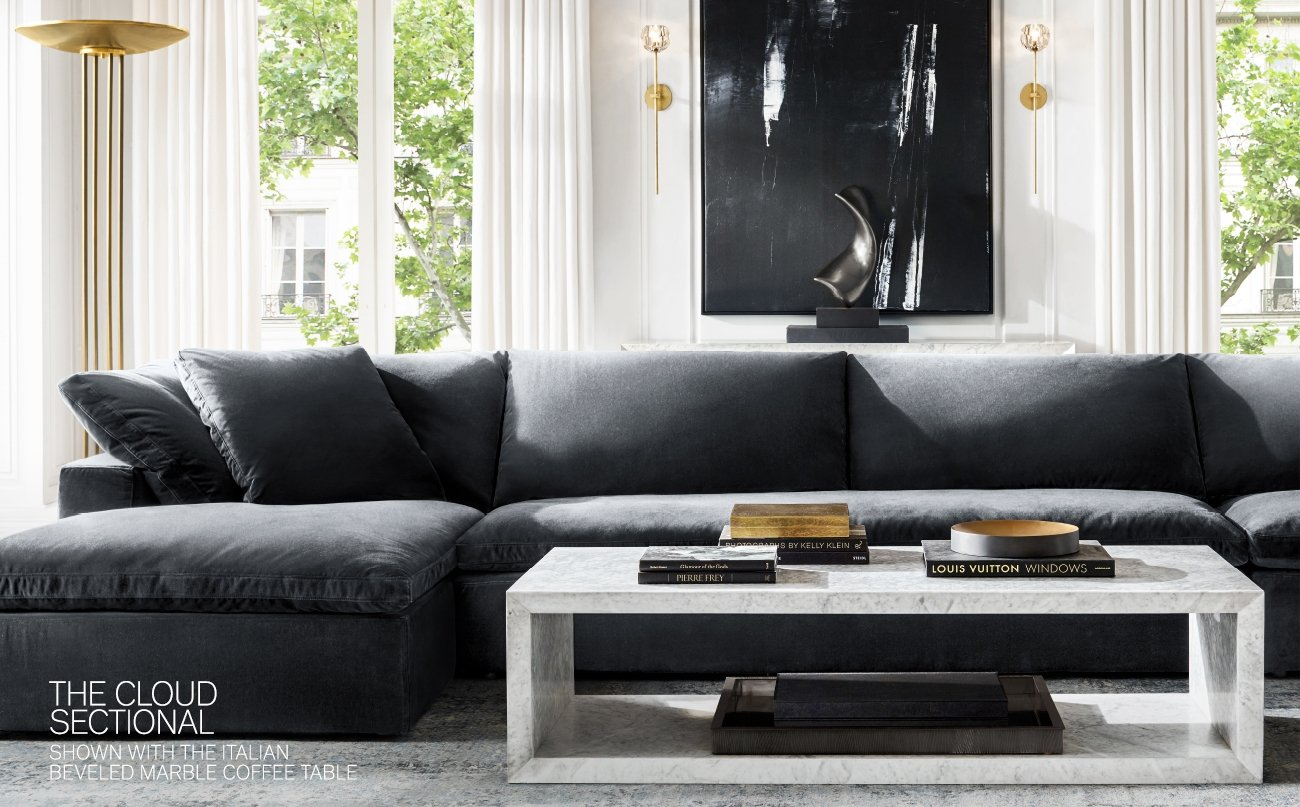 Restoration Hardware Introducing The Beveled Marble Collection In Italian Carrara Milled