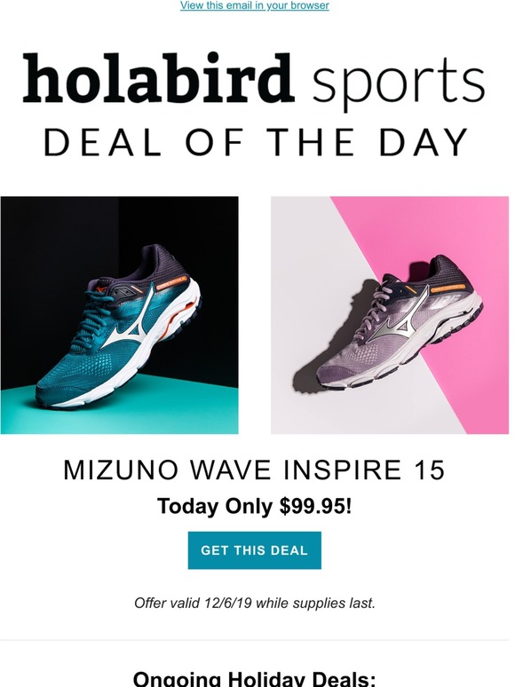 mizuno wave inspire cyber monday