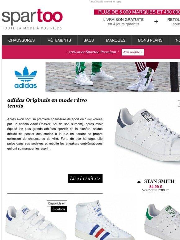 Spartoo: Nouvelle collection ! Livraison gratuite sur adidas
