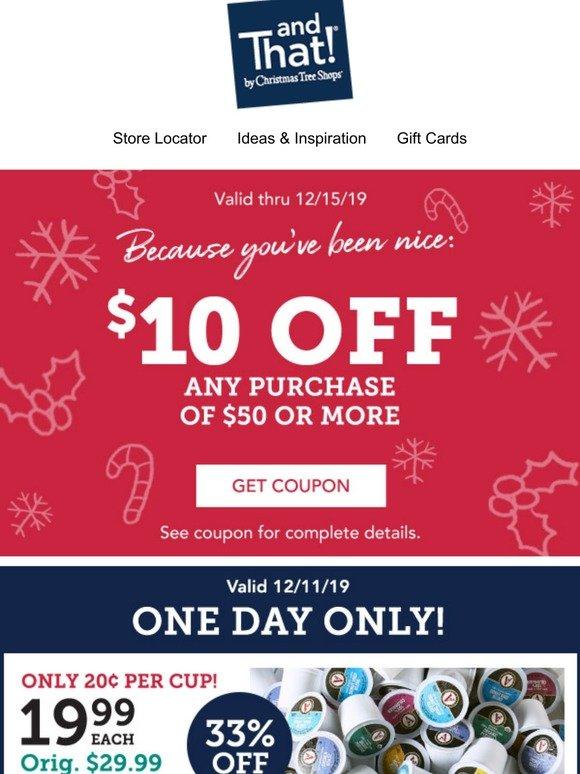 christmas buy coupon because