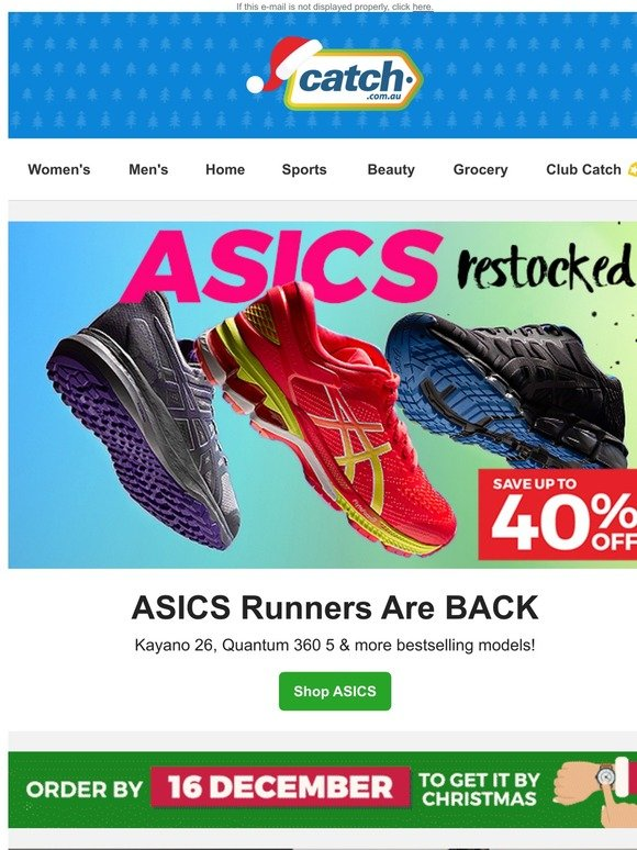 asics womens running shoes catch of the day discount
