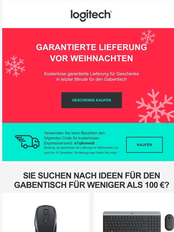 Logitech â De At Ch Lieferung Bis Weihnachten
