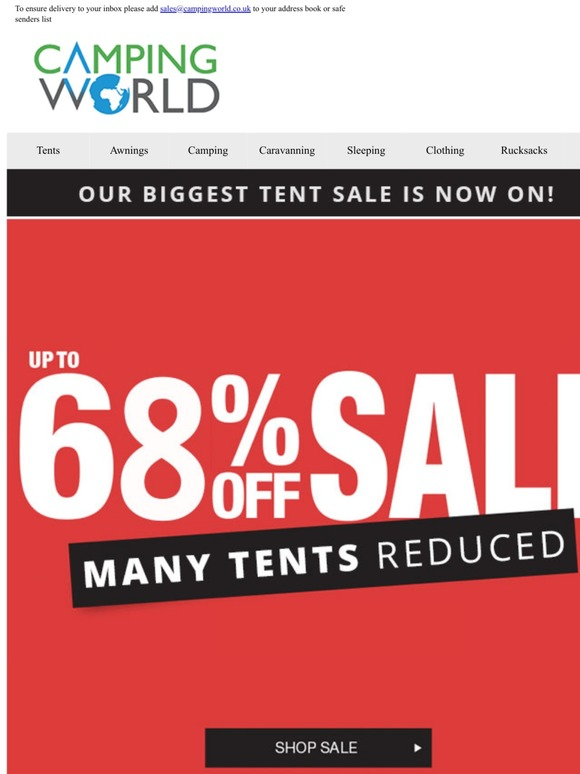 CampingWorld: Hurry..30% Off Jack Wolfskin | Limited Stock