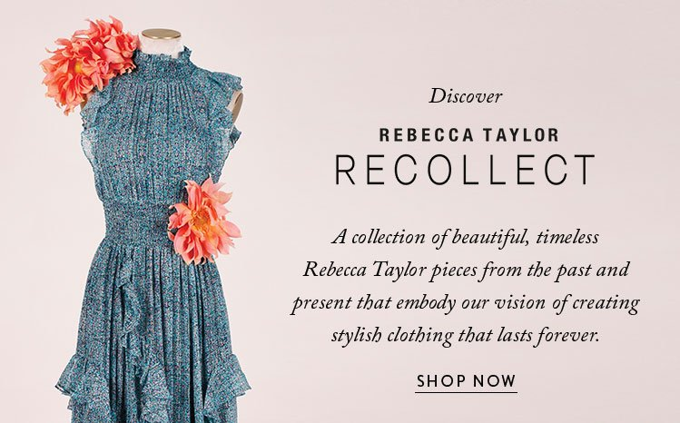 Rebecca Taylor Introducing Recollect Milled
