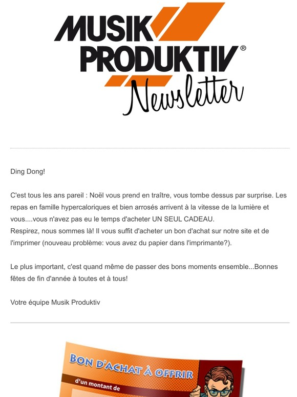 Musik Produktiv Fr Bon D Achat A Offrir Musik Produktiv Milled