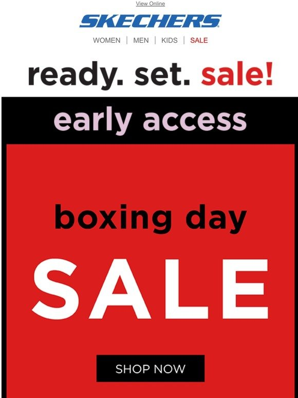 skechers sale boxing day