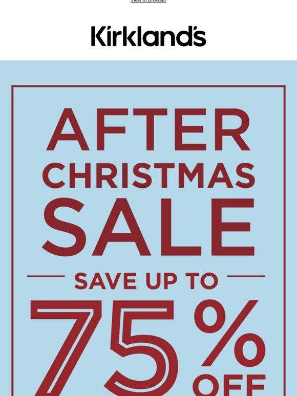 Kirkland S Home The After Christmas Sale Is Here 75 Off Milled