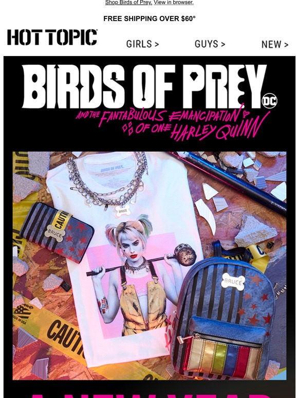 Hot Topic Birds Of Prey Merch Has Landed Get A Fresh Start Just Like Harley Quinn Milled
