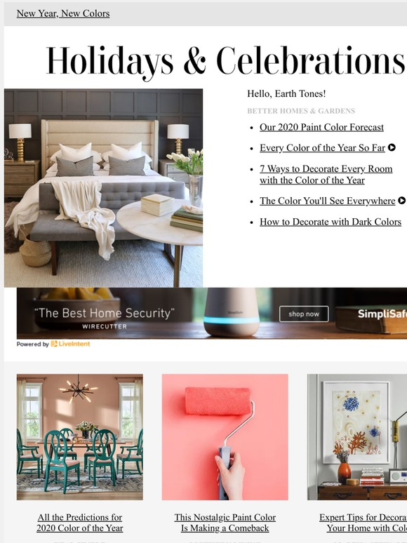Better Homes and Gardens: 2020 Paint Color Forecast | Milled on better homes gardens room additions, seventeen bedroom decorating, real life bedroom decorating, martha stewart bedroom decorating, country home bedroom decorating, better homes and gardens entryway decorating, bedroom colors home and garden decorating,