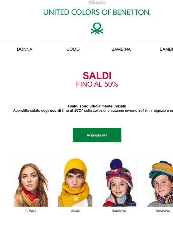 spina ferro Parana River  United Colors of Benetton: Via ai Saldi fino al 50% | Milled