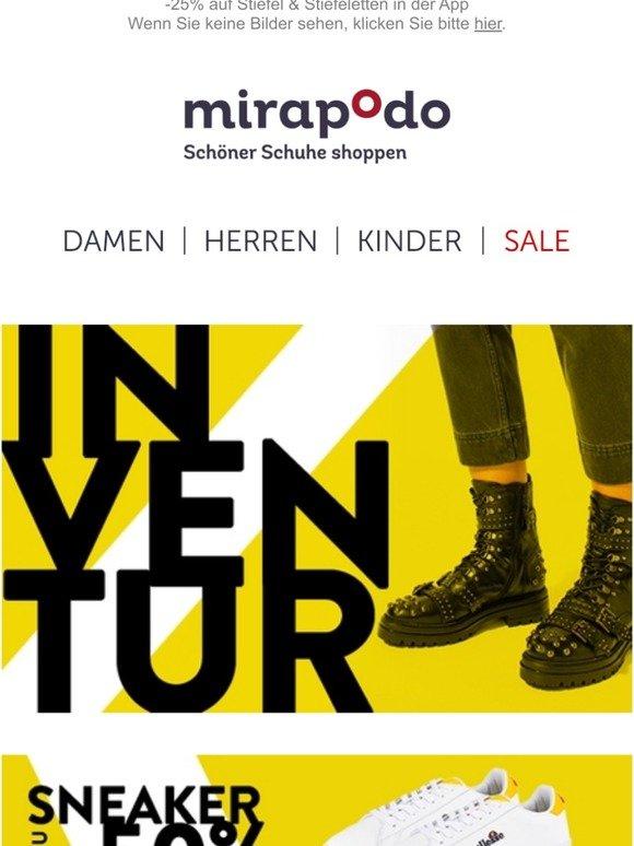 mirapodo Schöner Schuhe shoppen: 15% auf Damen und