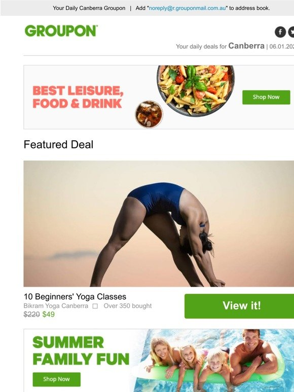 Groupon Stardeals Au 10 Beginners Yoga Classes Milled