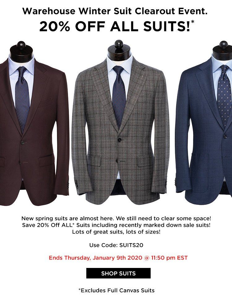 Spier Mackay Warehouse Suits Sale Save 20 On All Suits Milled