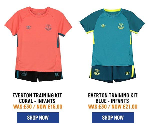 Everton Training Kit Infants Coral