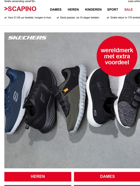 Scapino: Schoenenvoordeel: Skechers, Puma en Nike!   Milled