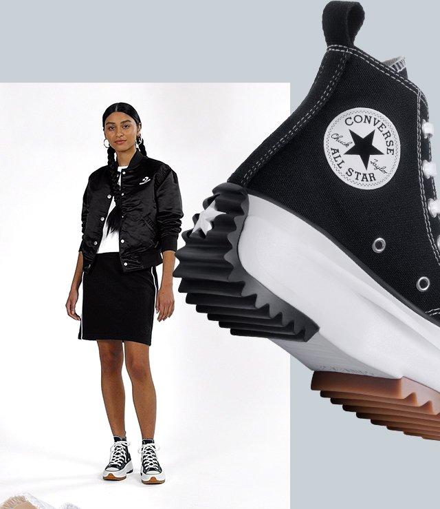 converse run star hike femme noir