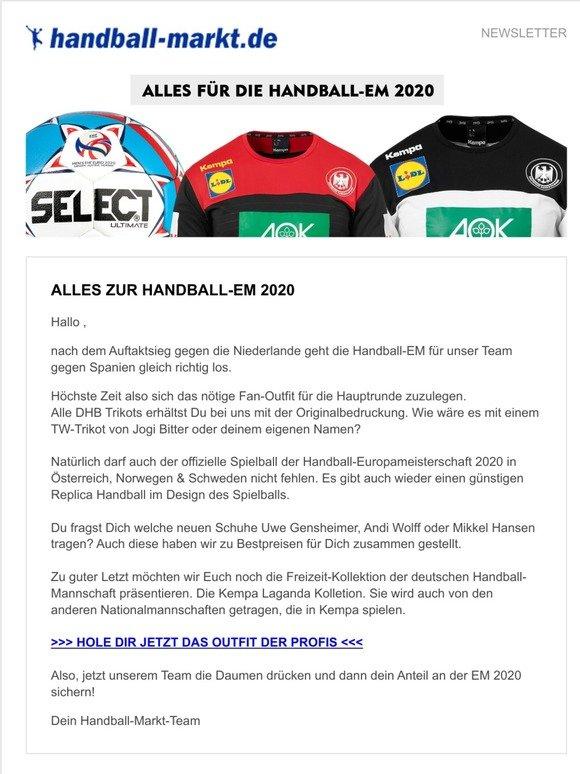 Kempa Handball DHB T-Shirt Wir Ihr Alle T-Shirt Damen schwarz wei/ß