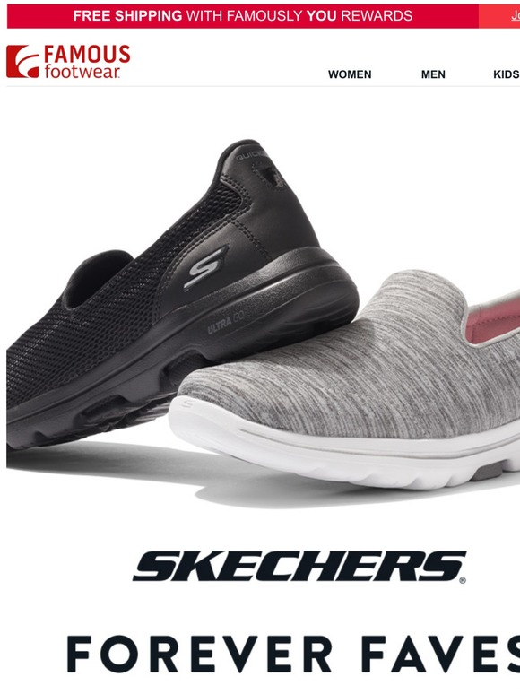 dirección trapo Fatal  Famous Footwear: Save on the Skechers you ❤️ | Milled