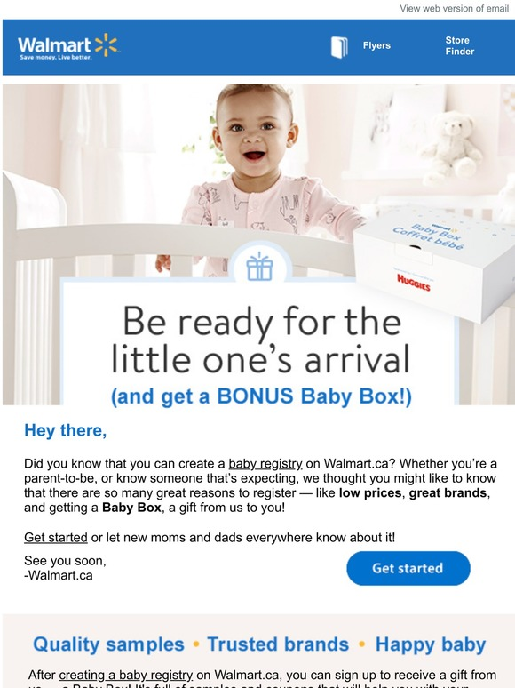 Walmart Canada New Baby Registry Bonus Baby Box Milled