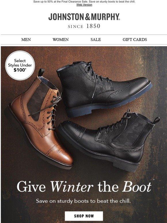 Johnston \u0026 Murphy: Boots Under $100