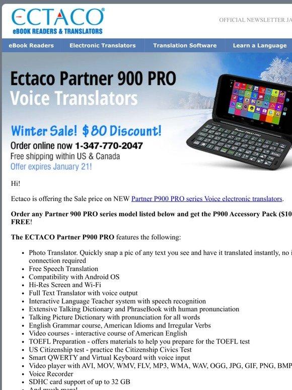 English Voice Translator and Language Teacher ECTACO Partner 900 PRO Vietnamese