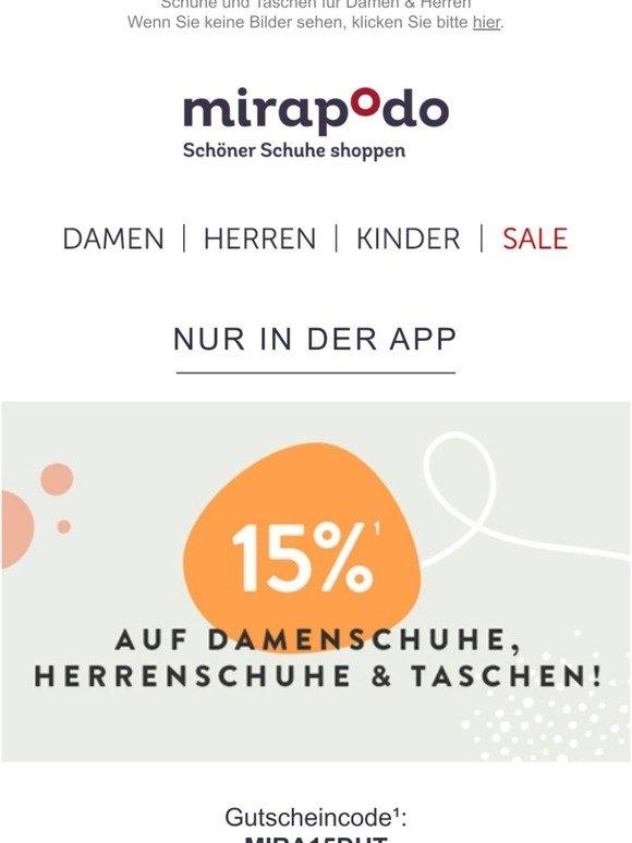 mirapodo Schöner Schuhe shoppen: Sale 70% + 10% Extra