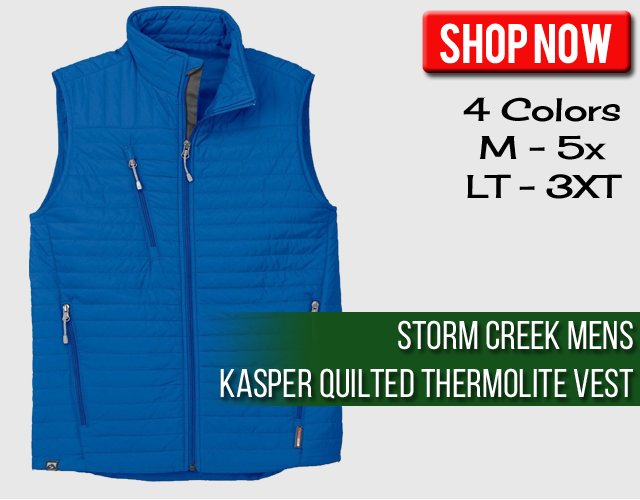 Storm Creek Mens Kasper Quilted Performance Vest
