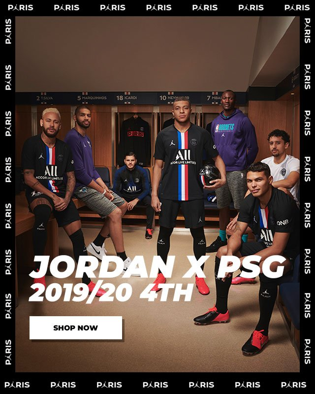 World Soccer Shop Jersey Launch Psg Does It Again Jumpman On The New Fourth Kit Milled
